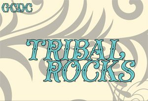 tribal rocks postcard